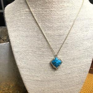 Kendra Scott Kacey Necklace- Bronze Vein Turquoise